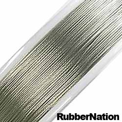 Wire Tiger Tail Beading Wire .38mm Silver 9 Meters/30Ft