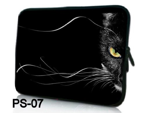 Make NEW Fashion black & half cat face Designe 13 13.3 inch Notebook Neoprene Silly Laptop Sleeve Case Bag Cover On for Apple Macbook Pro /Air 13 Retina Expose Air 13/ Sony VAIO/Samsung/DELL inspiron Vostro Studio XPS 13/HP Folio Longing 13 Pavilion DV