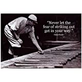 (13x19) Babe Ruth Striking Out Famous Quote Archival Photo Poster