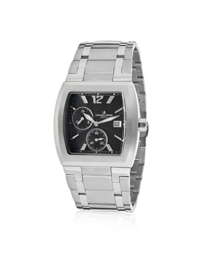 Jacques Lemans Men's GU139A Black Square Stainless Steel Watch As You See