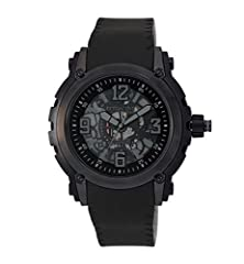 buy Q&Q Attractive Ion-Plated See Through Mechanic Skeleton Dial Grey & Black Case