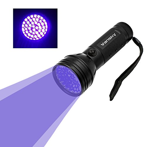 Vansky® UV Torch Blacklight 51 LEDs UV Flashlight Pets Urine Light Detector, Dogs/Cats Dry Stains UltraViolet Detector on Carpets, Rugs, Floor. 3 x AA Batteries Included
