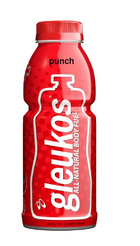 Gleukos All-Natural Sport Drink Body Fuel - Punch, 20-Ounce (Pack of 12)