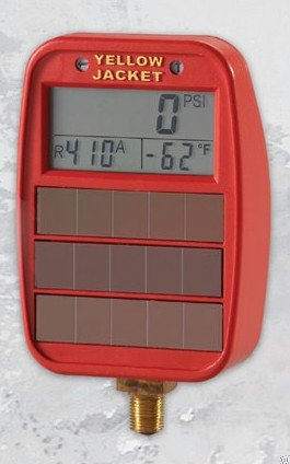 Yellow Jacket 49041 Hi-Side Solar/light-powered Digital LCD Gauges