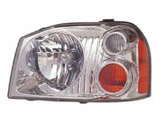 Nissan Frontier Base/XE Aluminum Bezel New Driver Side Headlight (2003 Nissan Frontier Xe compare prices)