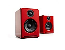Audioengine A2+ Limited Edition Powered Desktop Computer Speakers - Pair (Red)