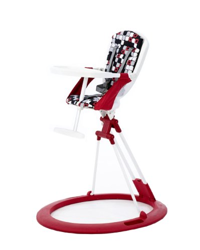 Little Helper Zooper Collapsible Retro High Chair (Red and Black)
