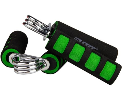 Buffalo Black and Green stripe Hand Grip Brand Wrist Finger Arm Strength