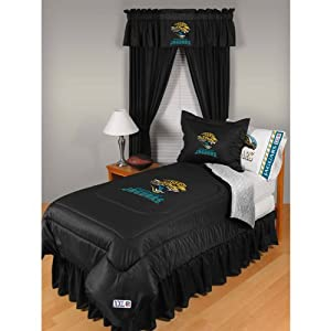 NFL Jacksonville Jaguars Locker Room Bed Comforter by Sports Coverage