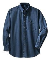 Port & Company SP10 Long Sleeve Value Denim Shirt - Ink Blue - XL