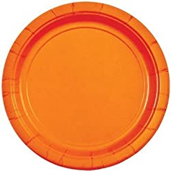 PrettyurParty Paper Plates (Pack of 10) - Orange