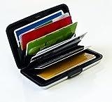 MaxBox - Kreditkartenetui Alu silber, RFID Kreditkarten Schutz Etui, Kreditkartenhalter Metall, EC Karten Box, Kartenetui Aluminium