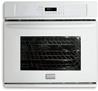 "Frigidaire FGEW2745KW 27"" Single Electric Wall Oven with Quick Preheat and True Convection, White"