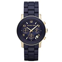 famous brand really cheap various colors Cheap Michael Kors Women's MK5316 Navy Silicone Wrapped ...