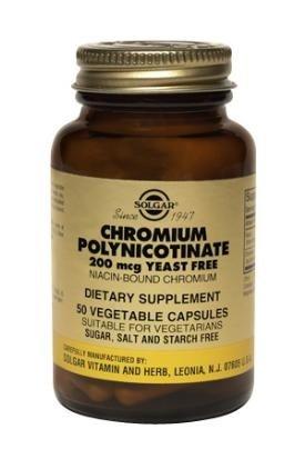 Chromium polynicotinate 200 mcg