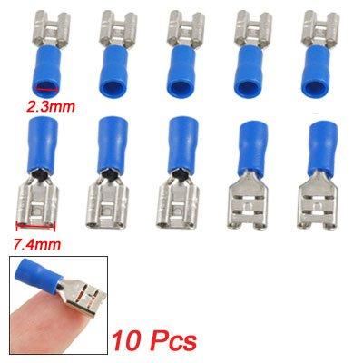 Amico 10 Pcs Blue Pre Insulated Female Spade Crimp Terminals