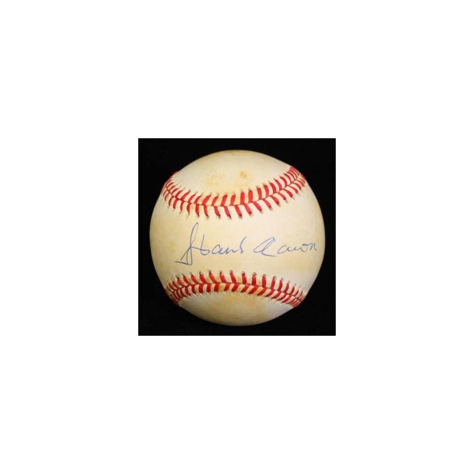 Hank Aaron Signed Autographed Onl Baseball Ball Psa/dna