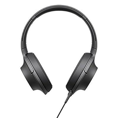 Sony MDR100AAP/B Premium Hi-Res Stereo Headphones, Charcoal Black