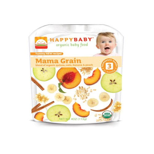 Happy Baby Organic Baby Food Stage 3 Mama Grain - 4 oz - Case of 16