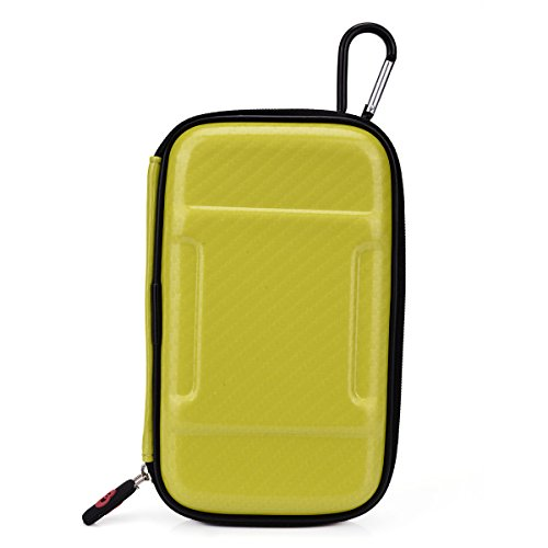Electric Yellow Hard Cover Case For Travel W/Hook & Internal Compartments:Toshiba Canvio (320Gb, 750Gb) Usb 3.0 Basics Portable Nuvur ™
