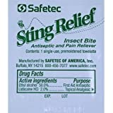 Safetec Insect Sting Relief Wipe (case of 48)
