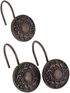 Carnation Home Fashions Shower Curtain Hooks Carnation Home Fashions