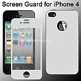 Apple iPhone 4/4S Blanco Protector de Pantalla Frontal y Trasera (Pack de 1) + Toallita Microfibra Gratis