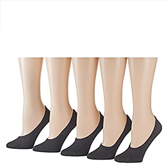 Tipi Toe Women's Foot Liners (10-PED22) size 9-11 fits shoe 6-9, Black,10 Pairs