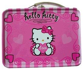 Pink Hello Kitty Mini Size Tin Box - Miniature Tin Box - 1