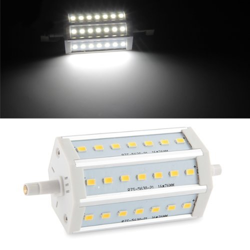 Toogoo(R) R7S 8W Dimmable 118Mm 21 Smd Led Bulb White Halogen Floodlight Lamp 800Lm
