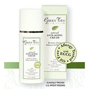Green Tea Skin Care - Natural Anti-Ageing Green Tea EGCG Cream - 50ml