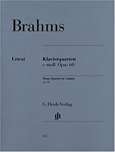 Piano Quartet C Minor Op 60piano Quartet from G. Henle Verlag