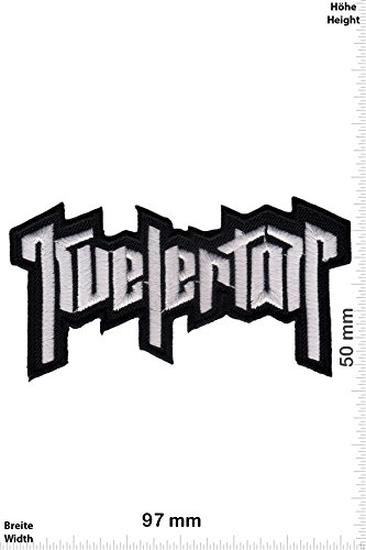 Patch - Kvelertak - Metal-Band - silver - Musica - Kvelertak- Iron on Patch - toppa - applicazione - Ricamato termo-adesivo""
