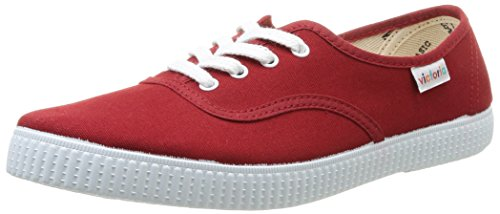 Victoria - Inglesa Lona, Sneakers, unisex, Rosso (Carmin), 42
