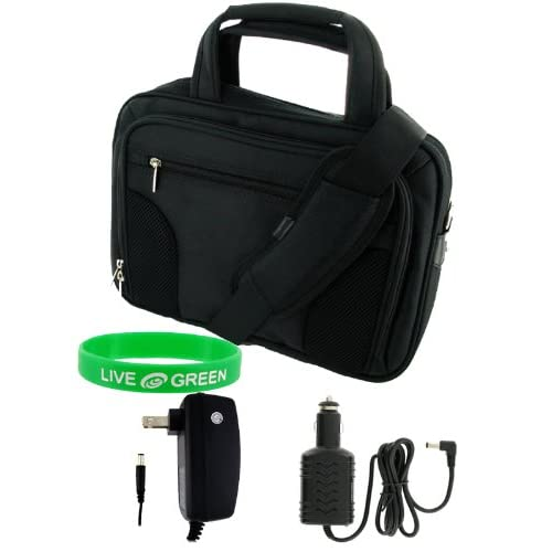 Dell Inspiron Mini 9 Inch 8.9 Inch Notebook Deluxe Netbook Carrying Case   Bundle with Car and Home Charger