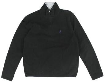 Nautica Men Quarter Zip Logo Fleece Jacket Sweatshirt by Nautica
