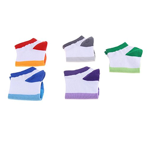 Summer Mixed Colors Sweat Breathable Socks (5 Pairs) (Halloween Store Portland Oregon)