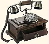 Shop Brand New Wooden Country Brown - Retro Vintage Antique Telephone (Home & Furniture Decor)