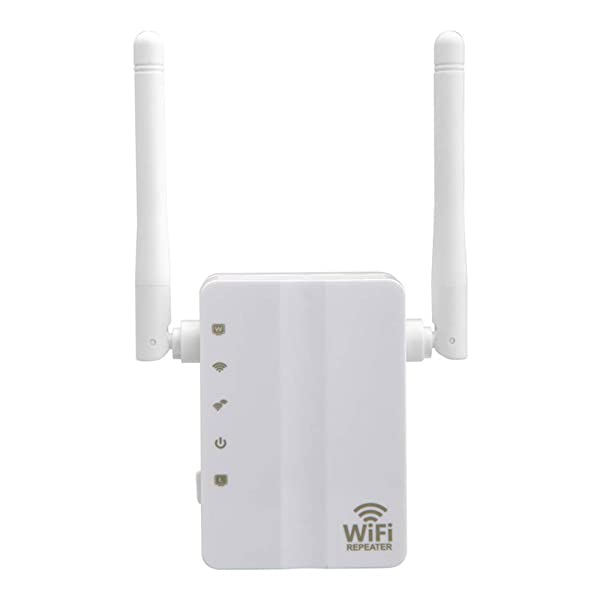 N&M Tech WiFi Extender Repeater Wireless Signal Booster Wi-Fi Long Range Router Amplifier Network High-Speed 300Mbps 2.4GHz for Home House Office 3 in