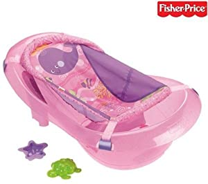 fisher price ocean wonders pink sparkles baby toddler girls bath tub accessories. Black Bedroom Furniture Sets. Home Design Ideas