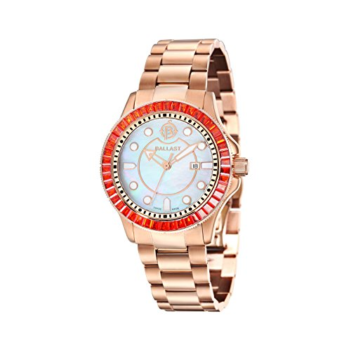 Ballast VANGUARD Women's IP - Rose Gold Solid Bracelet Watch - BL-5101-44