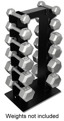 Deltech Fitness 6 Pair Vertical Weight Rack