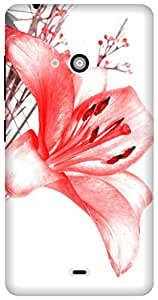 The Racoon Grip flower sketches hard plastic printed back case / cover for Microsoft Lumia 540