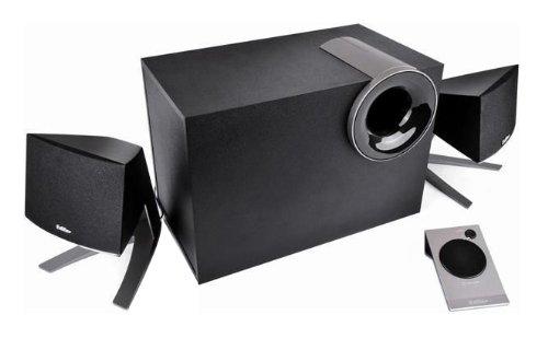 Edifier M1380, 2.1-Soundsystem mit 2x 8W Satelliten und 1x 12W Subwoofer, inklusive Fernbedienung, schwarz