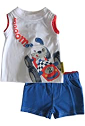 Mini Bean Baby-Boys' Racing Dog Set