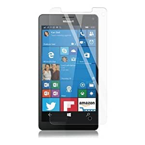 Real Shopping 0.3mm Premium Anti Explosion Tempered Glass, 9H Hardness Ultra Clear, Anti-Scratch, Bubble Free, Anti-Fingerprints & Oil Stains Coating for Microsoft Lumia 950