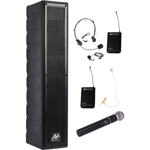 Line Array Amplified Speaker With Wireless Mic
