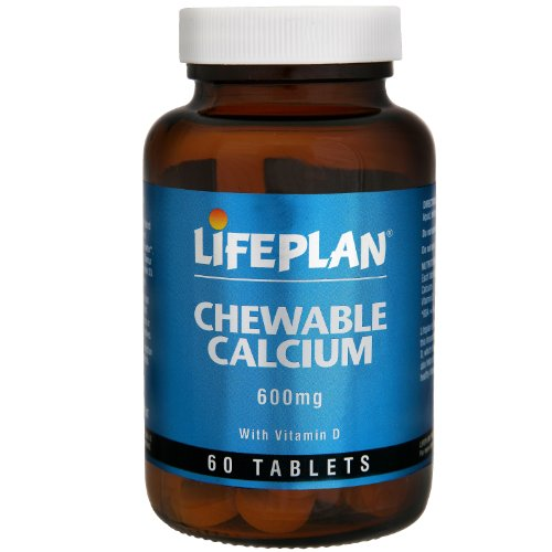 Lifeplan Chewable Calcium with Vitamin D 600mg 60 Tablets