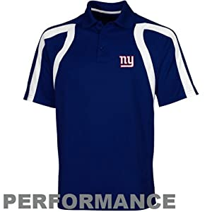 NFL Antigua New York Giants Point Polo - Royal Blue by Antigua