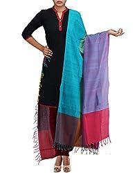 Unnati Silks Women Multicolor Pure Handloom Andhra Khadi Cotton dupatta